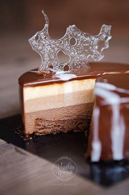 Šokoladinis tortas Chocolat trio